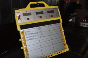 Atemschutzüberwachungstafel